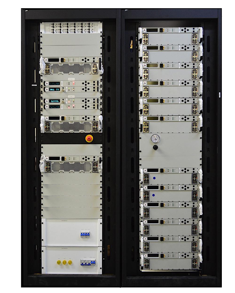 X Band 6600W BUC SSPB SSPA Rackmount GaN-2018